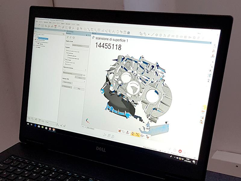 Digitalizzazione 3D pezzi meccanici